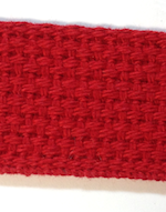 "1"" Red USA Made Lightweight Cotton Webbing"