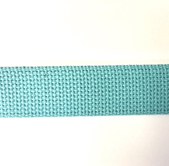 "1.25"" Aqua Heavyweight Cotton Webbing"