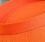 "1"" Orange USA Made Lightweight Cotton Webbing"