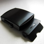 "1.25"" Black Military Buckle"