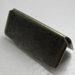 "1.25"" Antique Brass Belt Tip"