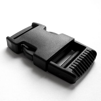 "1.5"" Black Plastic Side Release Buckle"