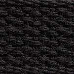 "1.5"" Black Lightweight Cotton Webbing"