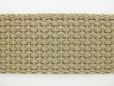 "1.25"" Buff Lightweight Cotton Webbing"